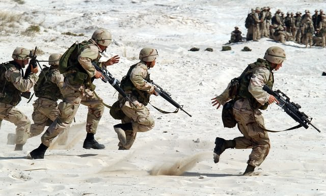 US Soldaten im Kampf
