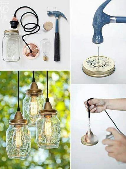 Lampe aus Schraubgläser