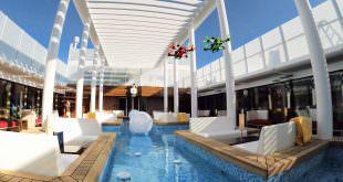 Drohnenflug auf der Aida