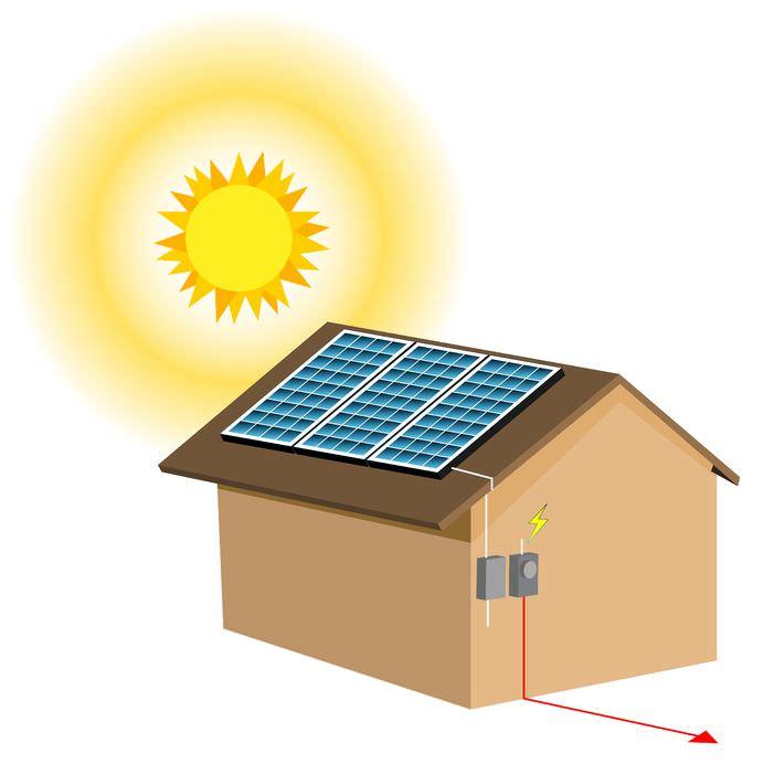 Strom aus Sonnenenergie